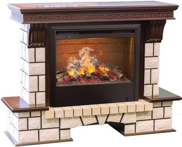 Каминокомплект  Real Flame Stone New 26 с очагом 3D Helios 26