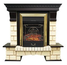 Каминокомплект Royal Flame Pierre Luxe шампань с очагом Majestic FX Brass