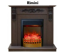 Каминокомплект Real Flame Dominica STD/EUG DN/WT с очагом Rimini