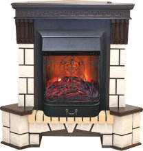 Каминокомплект Real Flame Stone Corner new  STD/EUG с очагом Majestic S Black