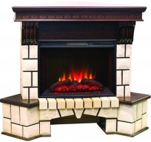 Каминокомплект Real Flame Stone Corner new с очагом Sparta / Evrika 25,5 LED