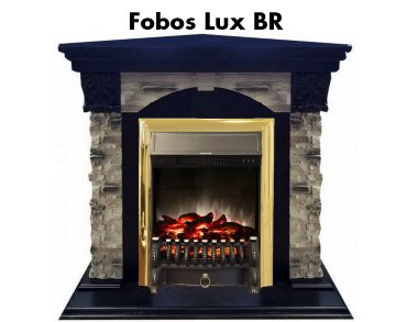 Каминокомплект Real Flame Dublin ROCK Corner STD/EUG AO с очагом Fobos s Lux / Majestic s Lux