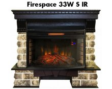 Каминокомплект Real Flame Kansas 33 AO с очагом Firespace 33W S IR