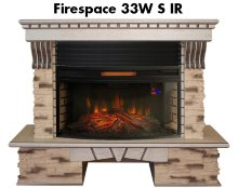 Каминокомплект Real Flame Sorento 33 WT с очагом Firespace 33W S IR