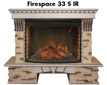 Каминокомплект Real Flame Sorento 33 WT с очагом Firespace 33 S IR
